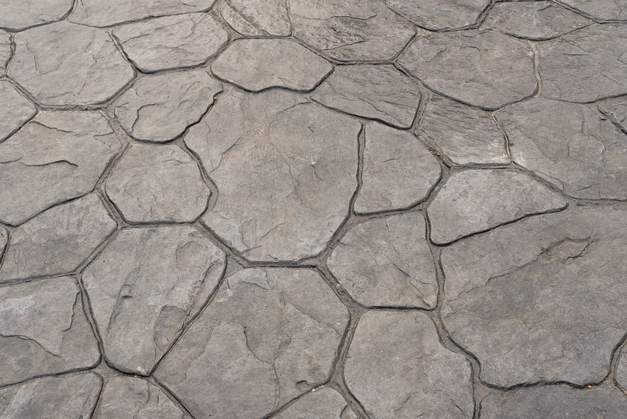 concrete stamping pattern on cement